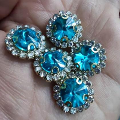 5pcs 10mm Round Rhinestone Diamond Stone