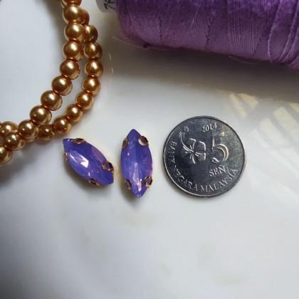 10pcs 7x15mm Horse Eye Opal Jelly Crystal Stone