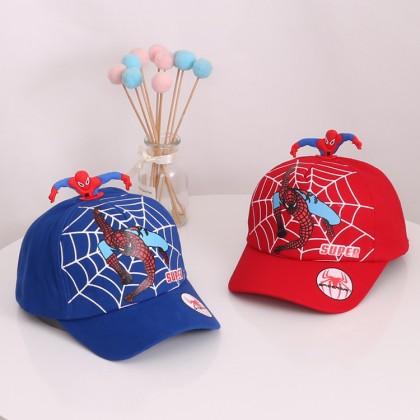 Kids Cap Spiderman SuperHero With Red Top Spiderman Design Character Adjustable Children