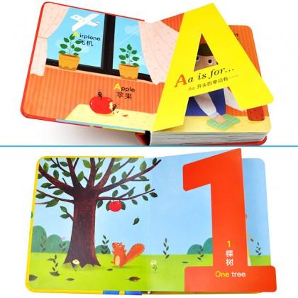 Alphabet ABC & Counting Numbers Book For Preschool Buku Huruf Abjad Nombor Tadika
