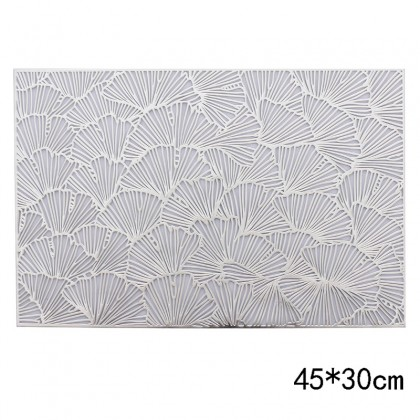 Ginkgo Rectangle Silver Table Mat