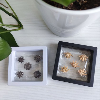 1pc 11x11cm PE Film Jewellery Box Transparent And Compact Jewelry Earrings Necklaces Rings Bracelets