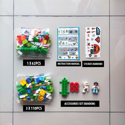 Building Blocks Colourful Lego Puzzle Stacking Bricks Christmas Birthday Present